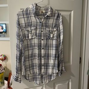 Francesca's plaid button down